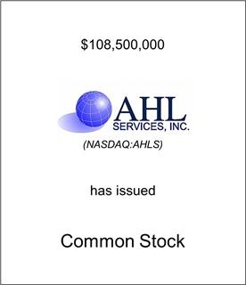 AHL Services, Inc. Has Issued Common Stock