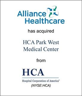 Alliance Healthcare Has Acquired HCA Park West Medical Center