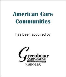 American Care Communities Has Been Acquired