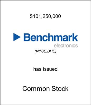 Benchmark Electronics Raises $101.5 Million Via a Secondary Offering of Common Stock