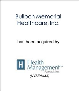 Bulloch Memorial Healthcare Has Been Acquired