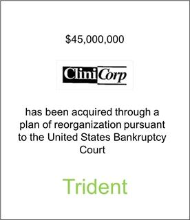 CliniCorp Has Been Acquired
