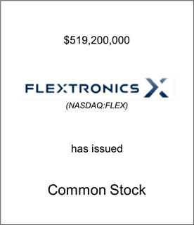 Flextronics Corporation Has Issued Common Stock