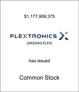 Flextronics Corporations Has Issued Common Stock