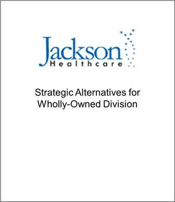 Genesis Capital Advised Jackson Healthcare Subsidiary on Strategic Alternatives
