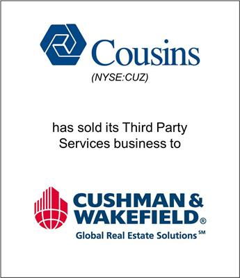 Genesis Capital Advises Cousins Properties on Sale of Third Party Client Services Business