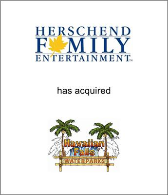 Herschend Family Entertainment Acquires Hawaiian Falls Water Parks