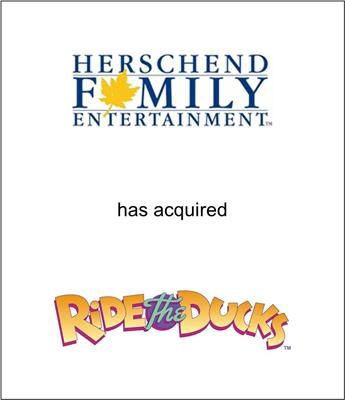 Herschend Family Entertainment Corp. Acquired Ride the Ducks International