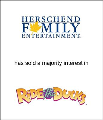 Herschend Family Entertainment Sold a Majority Interest in Ride the Ducks