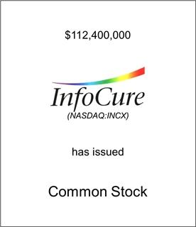 InfoCure Has Issued Common Stock