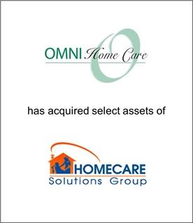OMNI Home Care Acquires Certain Assets of Homecare Solutions Group