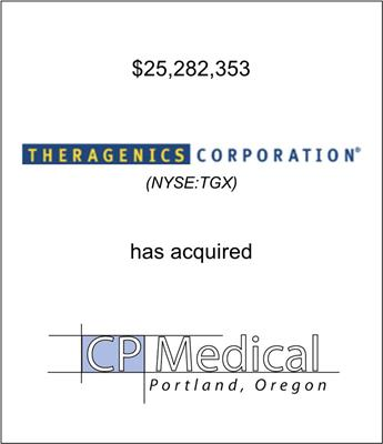 Theragenics Corporation (NYSE: TGX) Acquired CP Medical