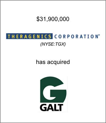 Theragenics Corporation (NYSE: TGX) Acquires Galt Medical Corp.