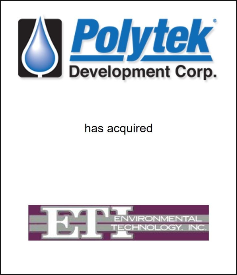 Genesis Capital Advises Polytek Development Corp. on its Acquisition of Environmental Technology, Inc.