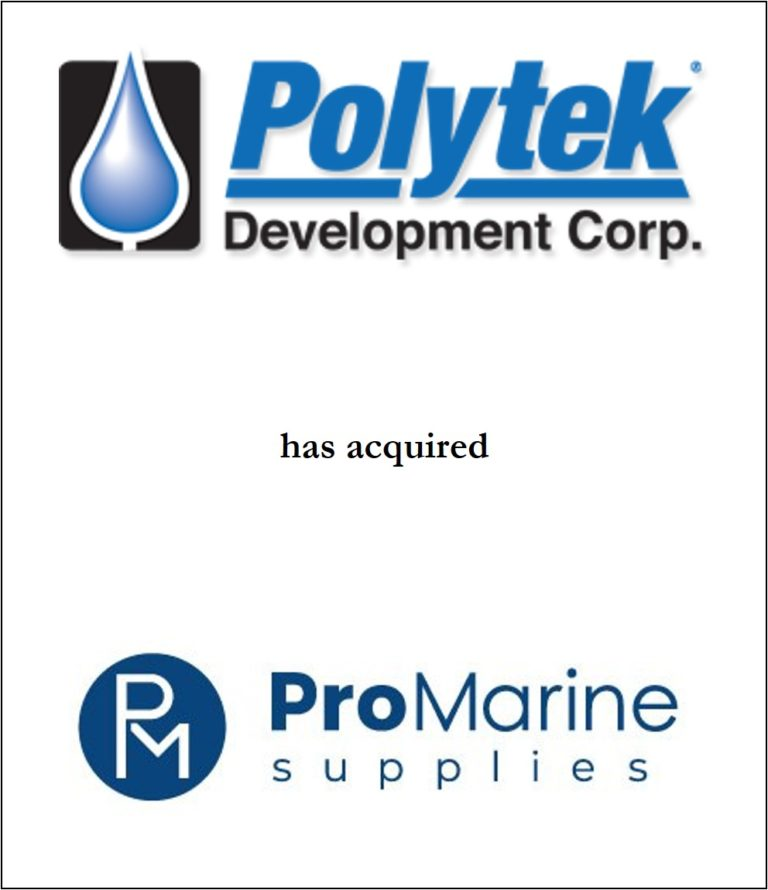 Genesis Capital Advises Polytek Development Corp. on its Acquisition of Pro Marine Supplies