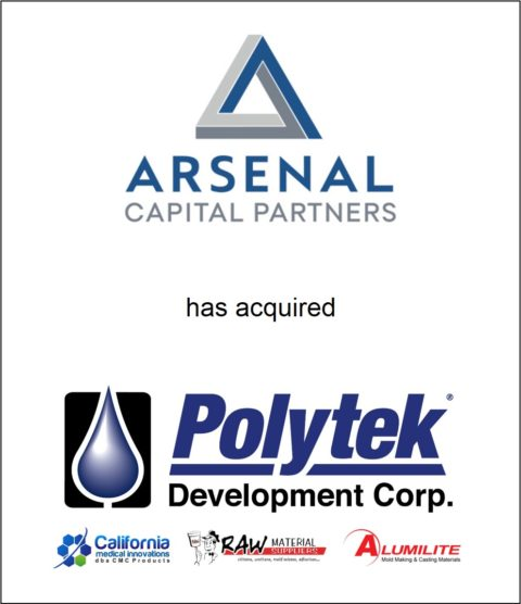 Genesis Capital Advises Arsenal Capital Partners On Its Acquisition of Polytek Development Corp.