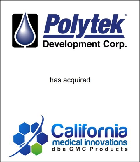 Genesis Capital Advises Polytek Development Corp. on its Merger with California Medical Innovations