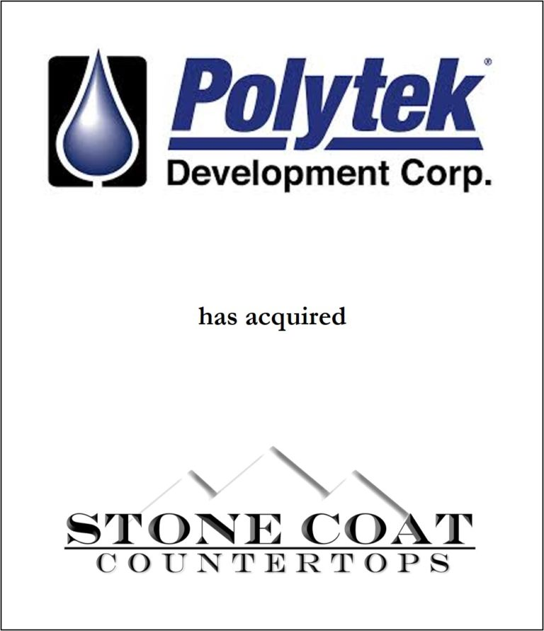 Genesis Capital Advises Polytek Development Corp. on its Acquisition of Stone Coat Countertops