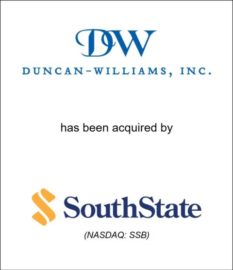 Genesis Capital Advises Family-Owned Brokerage Firm Duncan-Williams on Acquisition by South State Corporation (NASDAQ:SSB)
