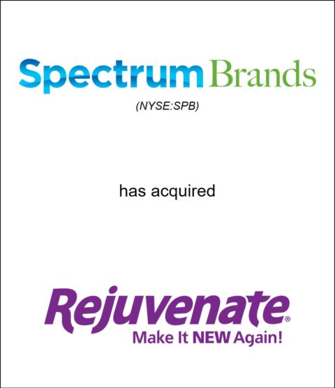 Genesis Capital Advises Spectrum Brands on its Acquisition of Rejuvenate®, a Leading Household Cleaning, Maintenance and Restoration Products Company