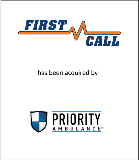 Genesis Capital Advises First Call Ambulance on its Acquisition by Priority Ambulance to Form the Largest Private Ambulance Provider in Tennessee